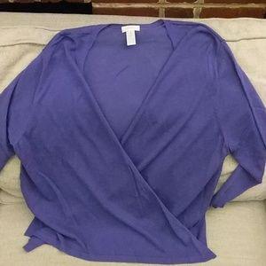 Chico's purple twinset size XL/3